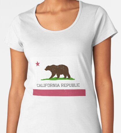 Vintage California Republic Flag Premium Scoop T-Shirt