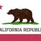 Vintage California Republic Flag by Chocodole