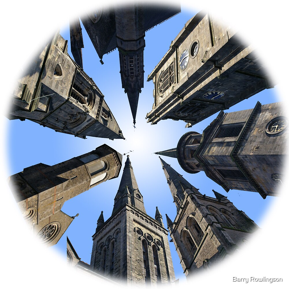 Six churches and a pub... by Barry Rowlingson