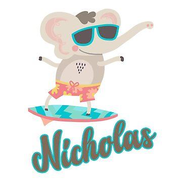 Surfing Elephant - Nicholas by lenorelocken