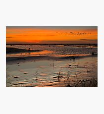 Grayland Beach Mud Flats at Sunset 2 Photographic Print