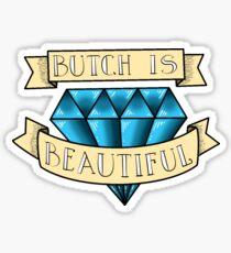Butch is Beautiful Diamond Tattoo Sticker