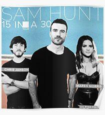 HUNT SAM TOUR 2017 15 IN A 30 DEDAUN Poster