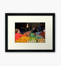 Carmel Market Framed Print