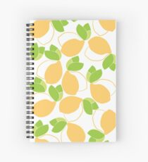 Lemons and Leaves Spiral Notebook