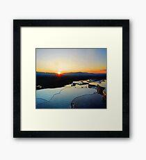 Pamukkale Sunset Vector Framed Print
