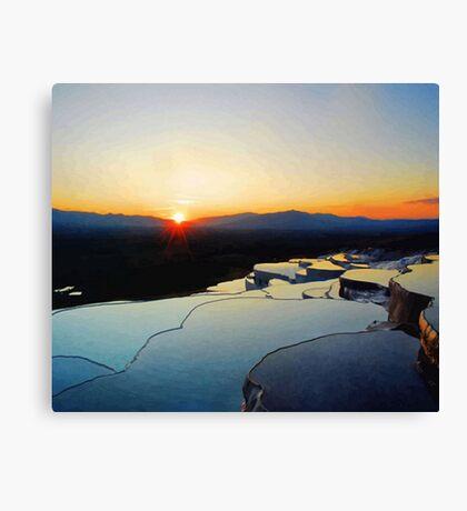 Pamukkale Sunset Vector Canvas Print