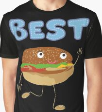 Matching Burger and French Fries Best Friends Design Graphic T-Shirt