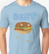 Matching Burger and French Fries Best Friends Design T-Shirt