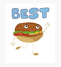 Matching Burger and French Fries Best Friends Design Photographic Print