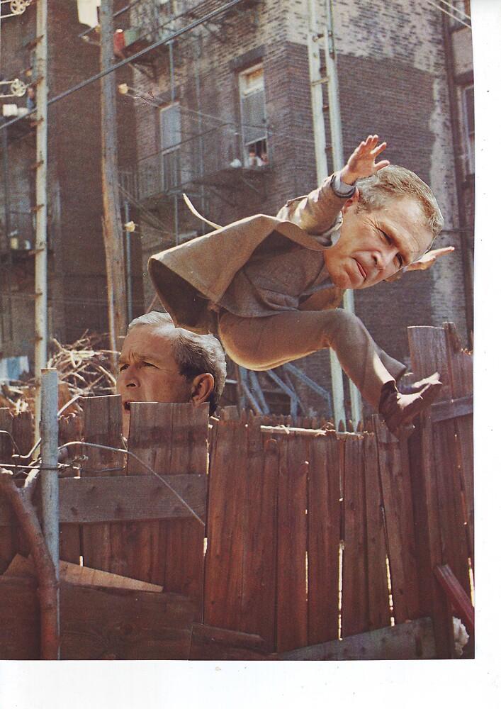 Bush Stunt Double Doppelganger by atomikboy