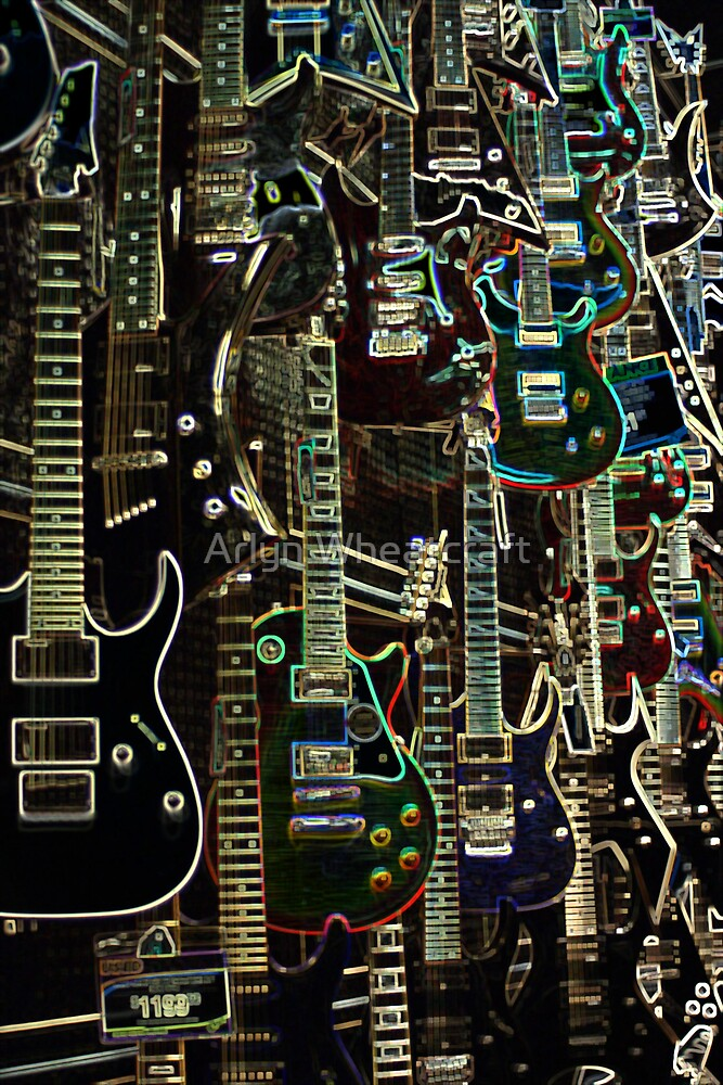 Wall Of Music by Arlyn Wheatcraft