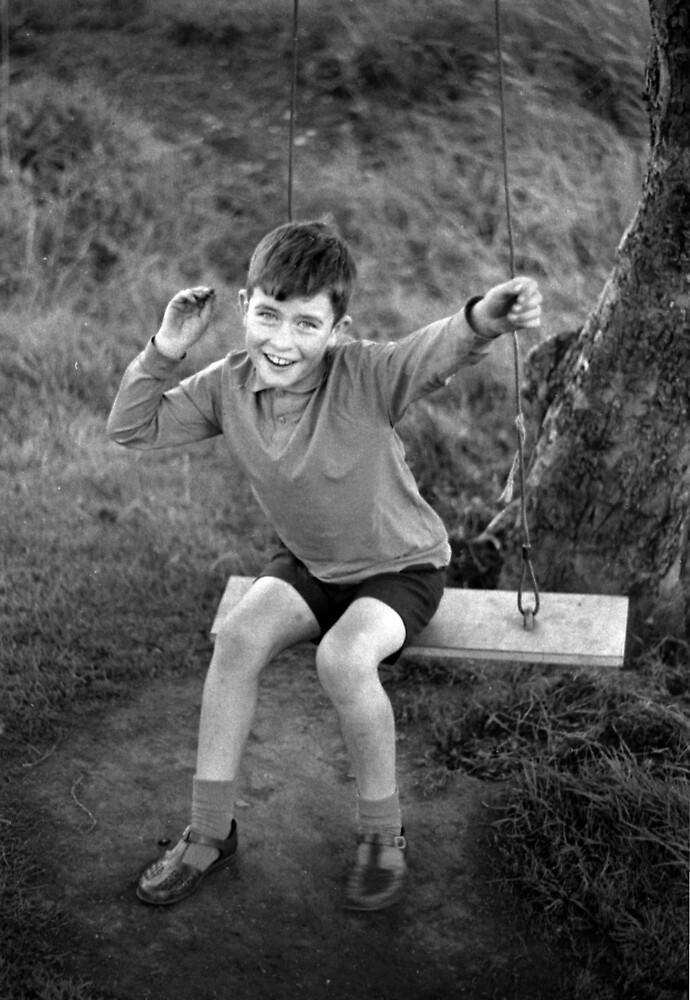 Jim on the swing by david malcolmson