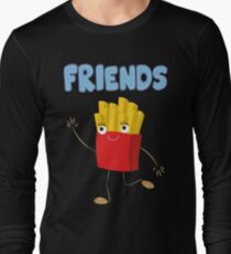 Matching Burger and French Fries Best Friends Design Long Sleeve T-Shirt