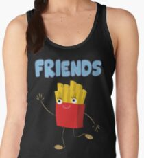 Matching Burger and French Fries Best Friends Design Women's Tank Top