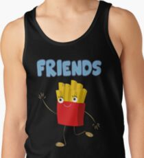 Matching Burger and French Fries Best Friends Design Tank Top