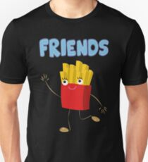 Matching Burger and French Fries Best Friends Design Unisex T-Shirt