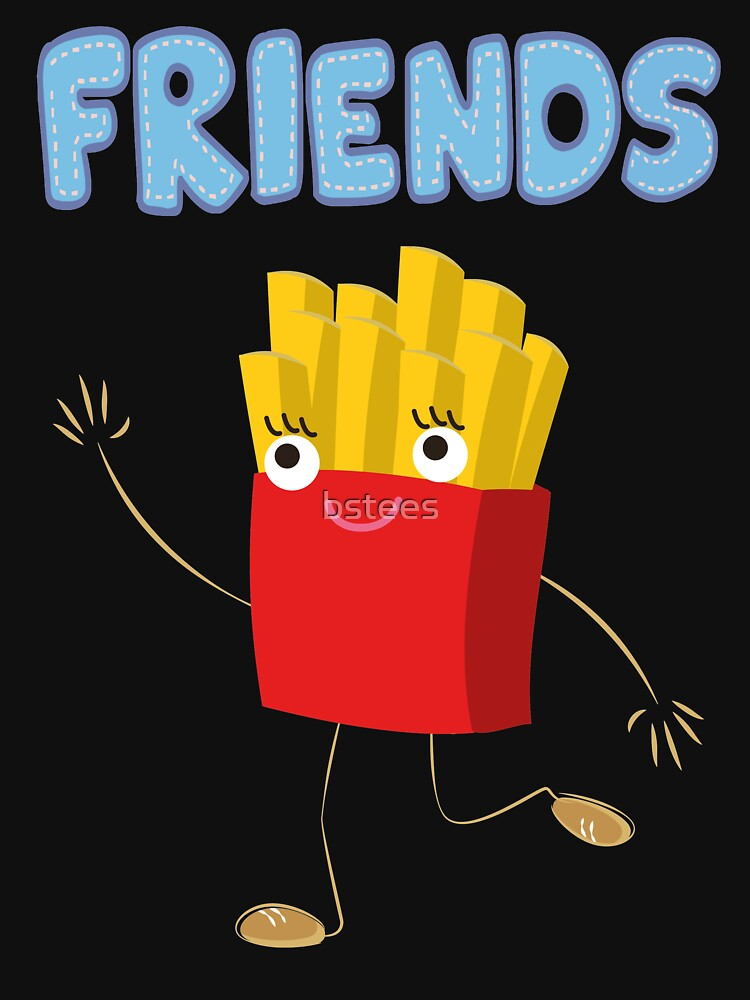 Matching Burger and French Fries Best Friends Design by bstees