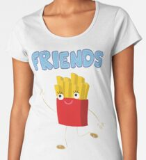 Matching Burger and French Fries Best Friends Design Women's Premium T-Shirt