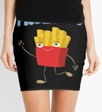 Matching Burger and French Fries Best Friends Design Mini Skirt