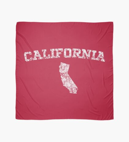 Retro & Vintage California States Shape Scarf
