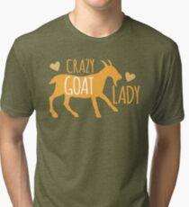 Verrückte Ziege Dame Vintage T-Shirt