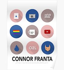infographic - connor franta Poster