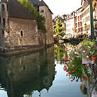 Canal Scene, Annecy. France by hans p olsen
