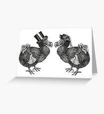 Mr and Mrs Dodo | Black and White Greeting Card