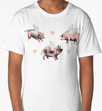 Flying Pigs Long T-Shirt