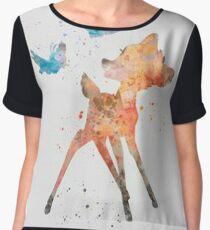 Bambi & birds Women's Chiffon Top