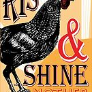 Rise and Shine Mother Cluckers   Vintage Rooster   Nature's Alarm Clock    by EclecticAtHeART