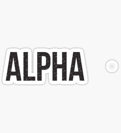 geo negro (¡ajuste de tamaño!) - alfa Pegatina
