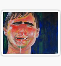 Casey Tatum Tim and Eric acrylic portrait Sticker