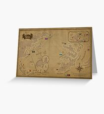 Faerie Sea Map Greeting Card