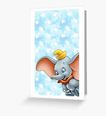 Dumbo flying Greeting Card
