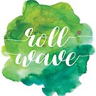 Tulane Roll Wave Watercolor by Emma Vaughters