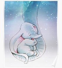 Dumbo sleeping Poster