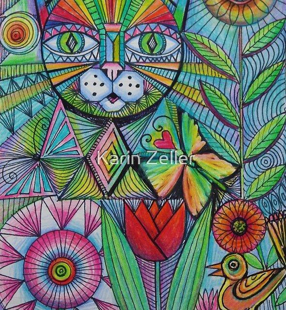 Cat doodle by Karin Zeller