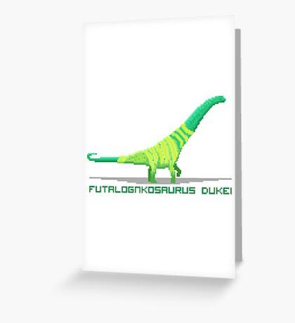 Pixel Futalognkosaurus Greeting Card