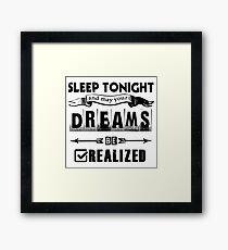 u2 mlk sleep for white background Framed Print