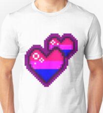 Sparkly Bisexual Pride Pixel Heart T-Shirt