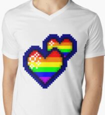 Sparkly Gay Pride Pixel Heart T-Shirt