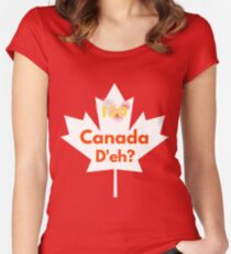 Canada D'eh? 150th Celebration Women's Fitted Scoop T-Shirt
