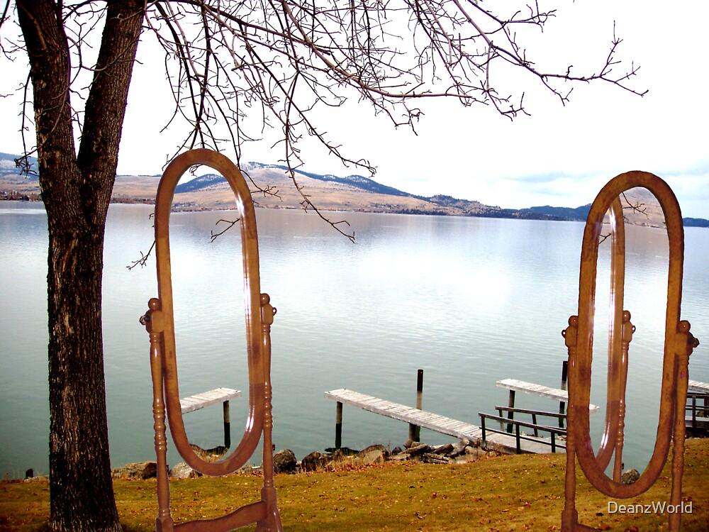Lake Side Reflections II by Dean Warwick