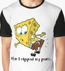 Spongebob when I ripped my pants Graphic T-Shirt