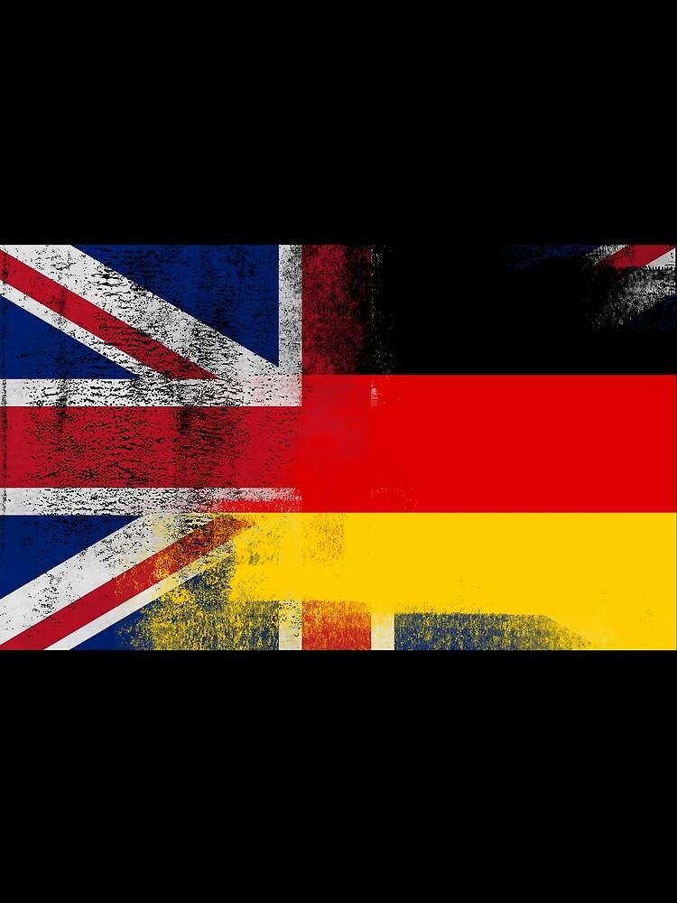 British German Half Germany Half UK Flag by ozziwar