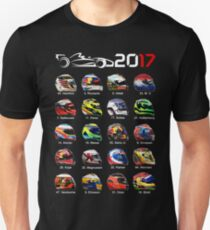 Formula 1 2017, helmets of drivers T-Shirt