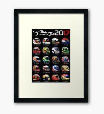 Formula 1 2017, helmets of drivers Framed Print