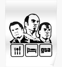 Eat, Sleep, GTA Poster